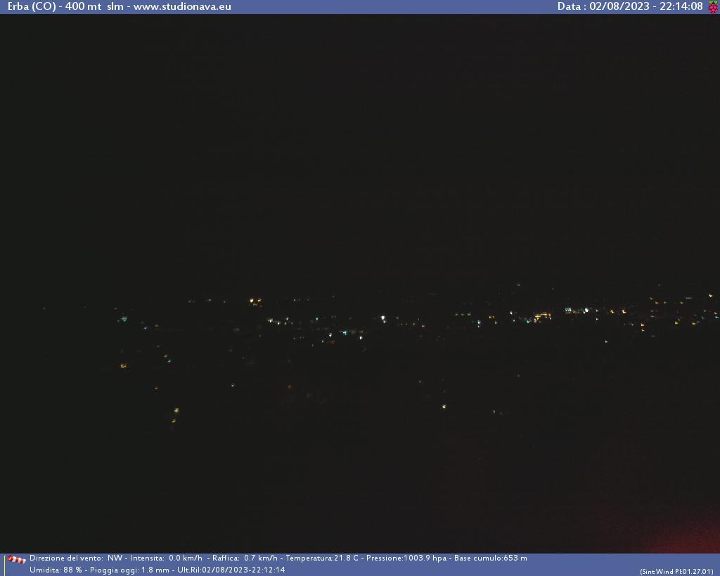 Webcam - Vista su ERBA